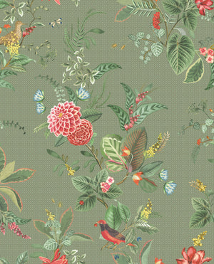 Pip Studio No 110 Wallpaper, Green / Multi Color