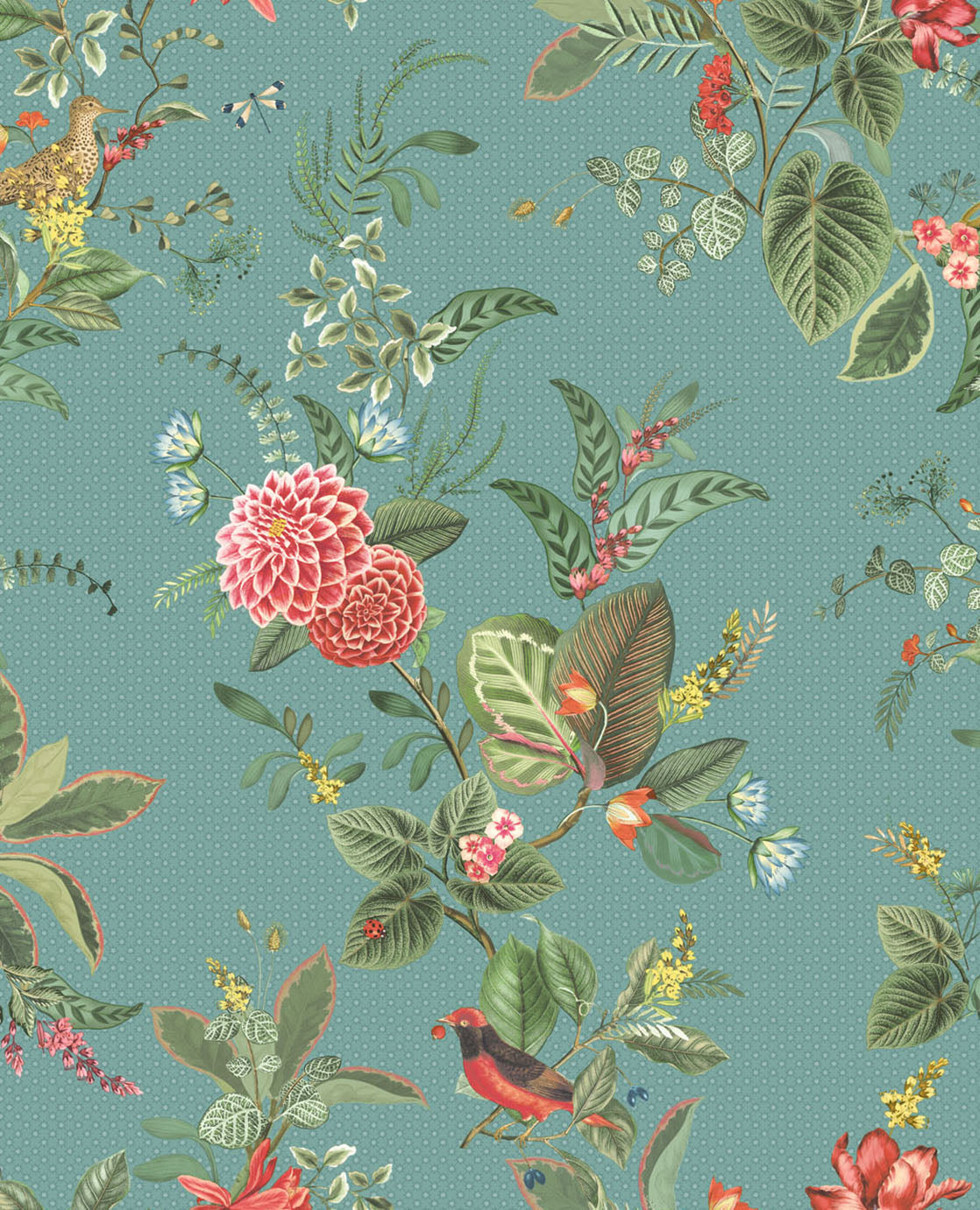 Pip Studio No 110 wallpaper, blue / Multi Colour