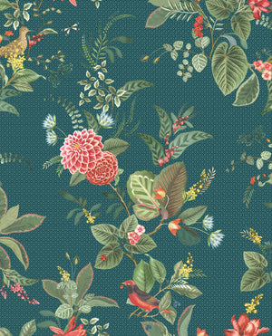 Pip Studio No 110 Wallpaper, Blue / Multi Color
