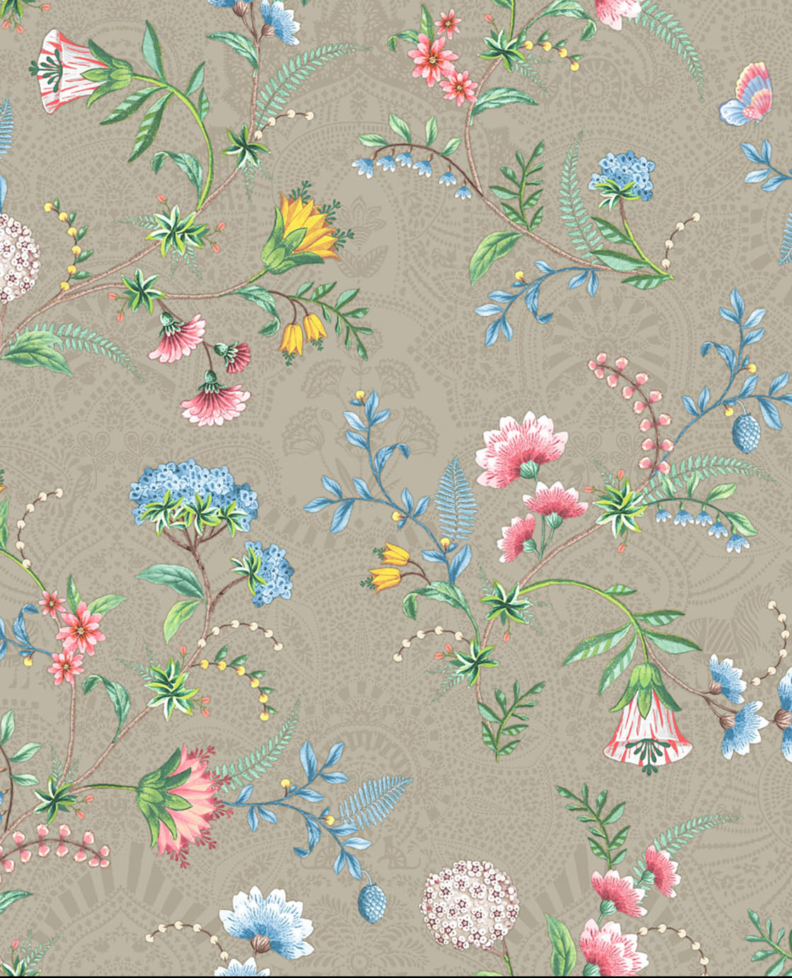 Pip Studio No 120 Wall Paper, Beige/Multi Colour