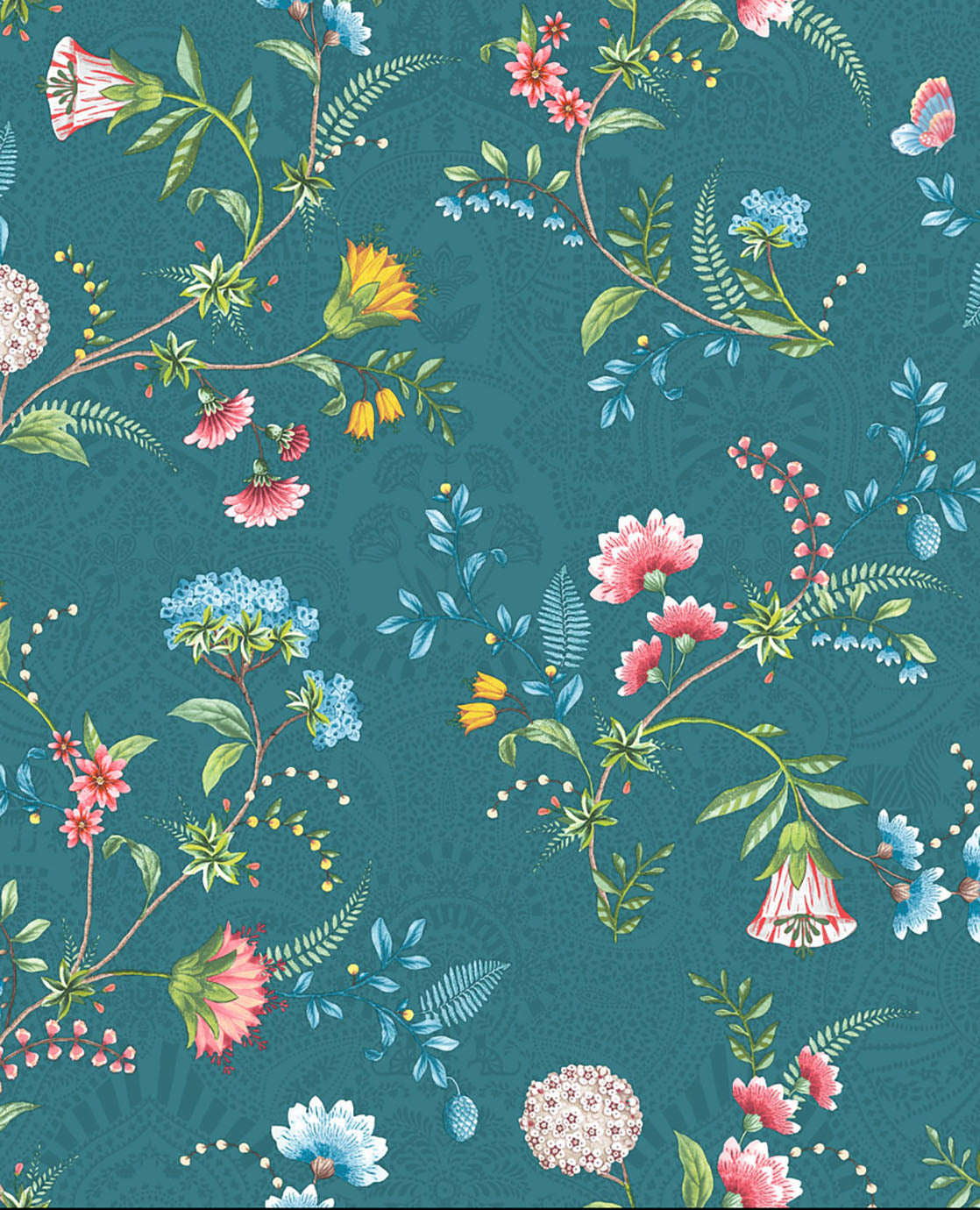 Pip Studio No 120 wallpaper, blue / Multi Colour
