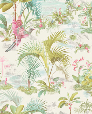 Pip Studio No 140 Wallpaper, White / Multi Color