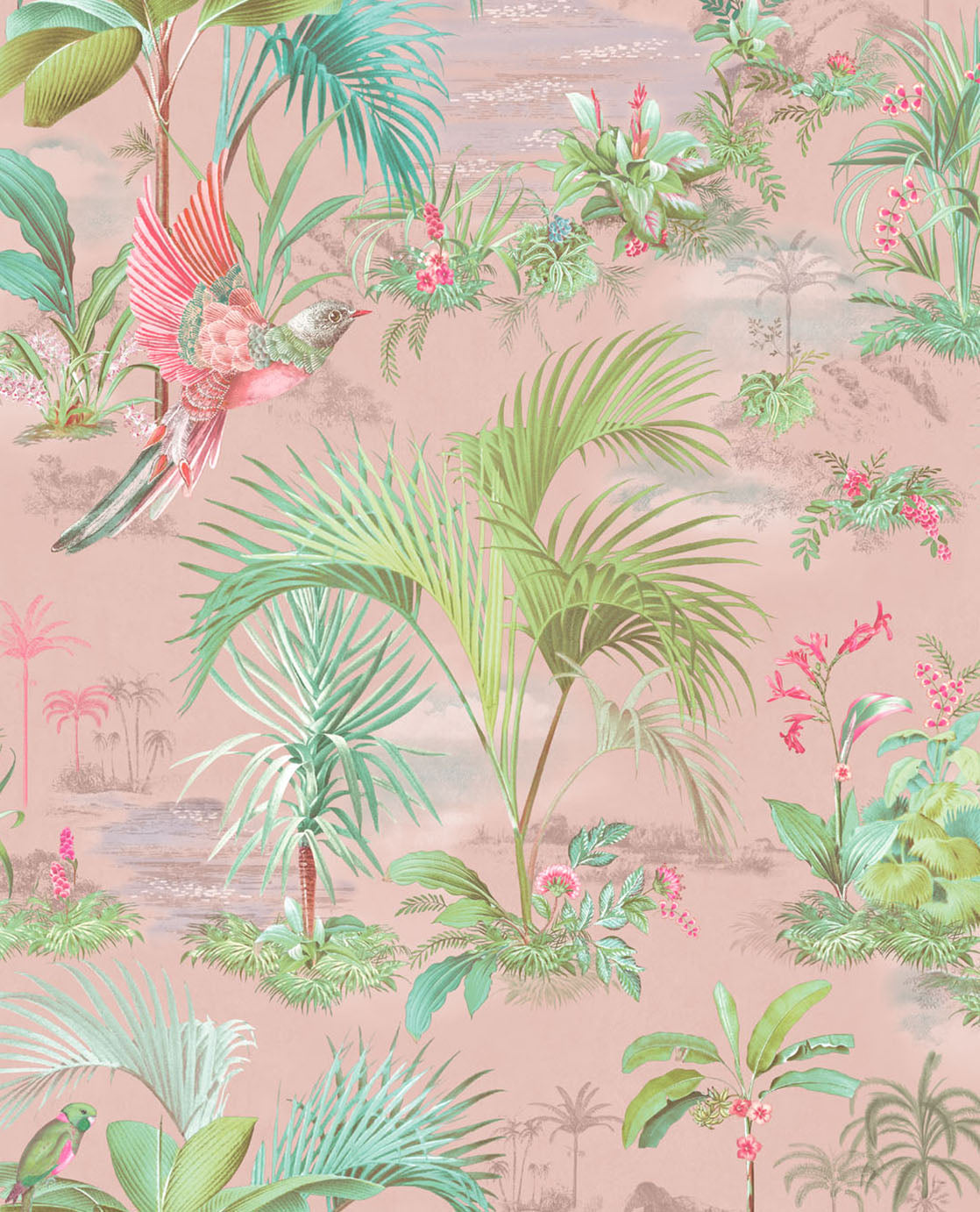 Pip Studio No 140 Wallpaper, Pink / Multi Color