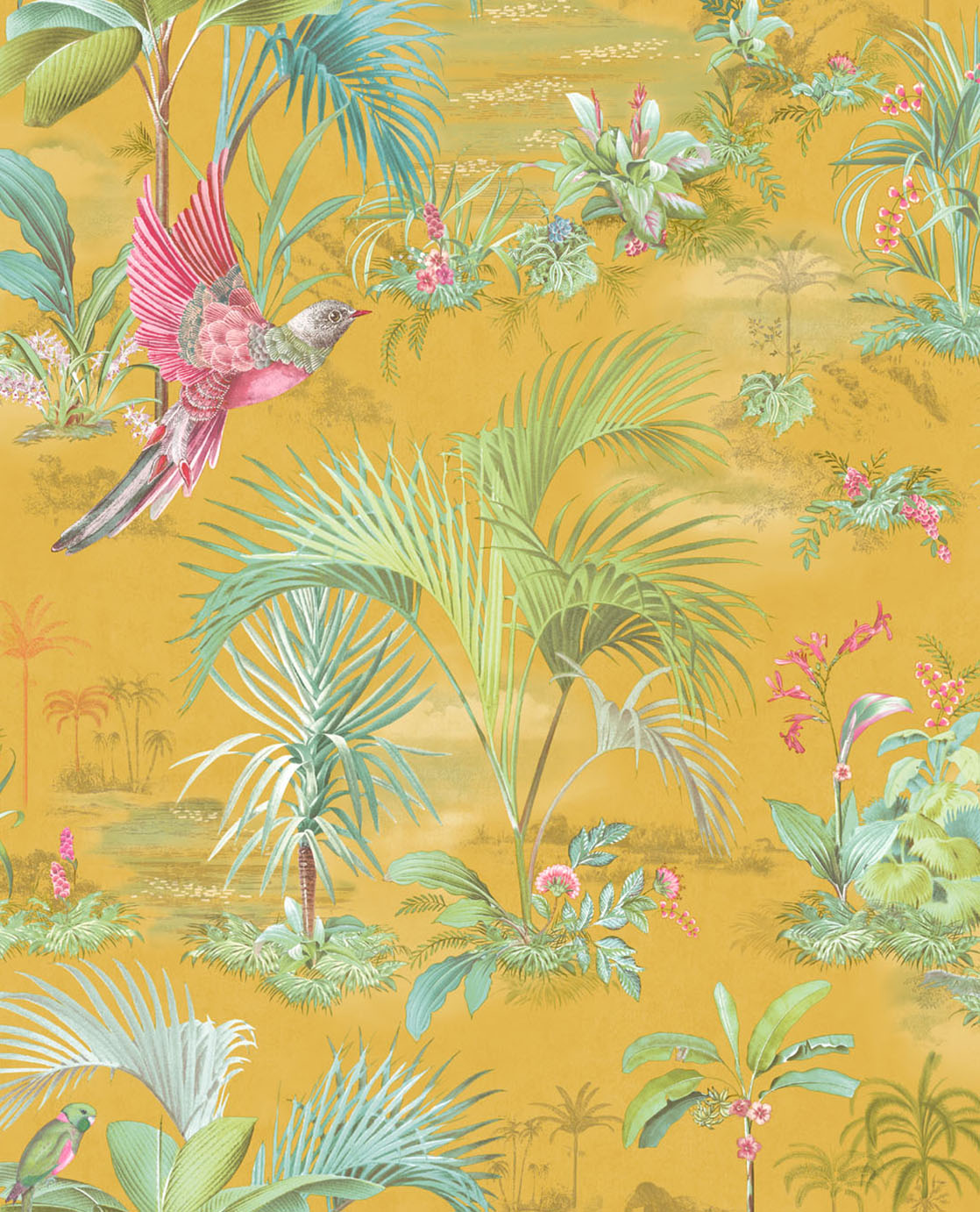 No. 140 Pip Studio Wallpaper, Yellow / Multi Colour