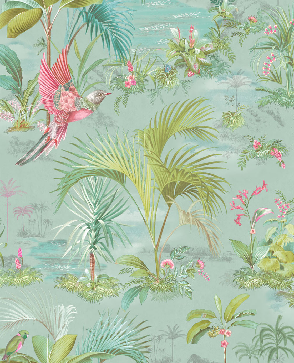 Pip Studio No 140 Wallpaper, Blue / Multi Colour