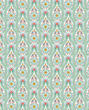 Pip Studio No 150 Wallpaper, White / Multi Colour