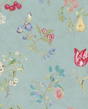 Pip Studio No 2 Wallpaper, Blue, Multi Color, 0,52 x 10