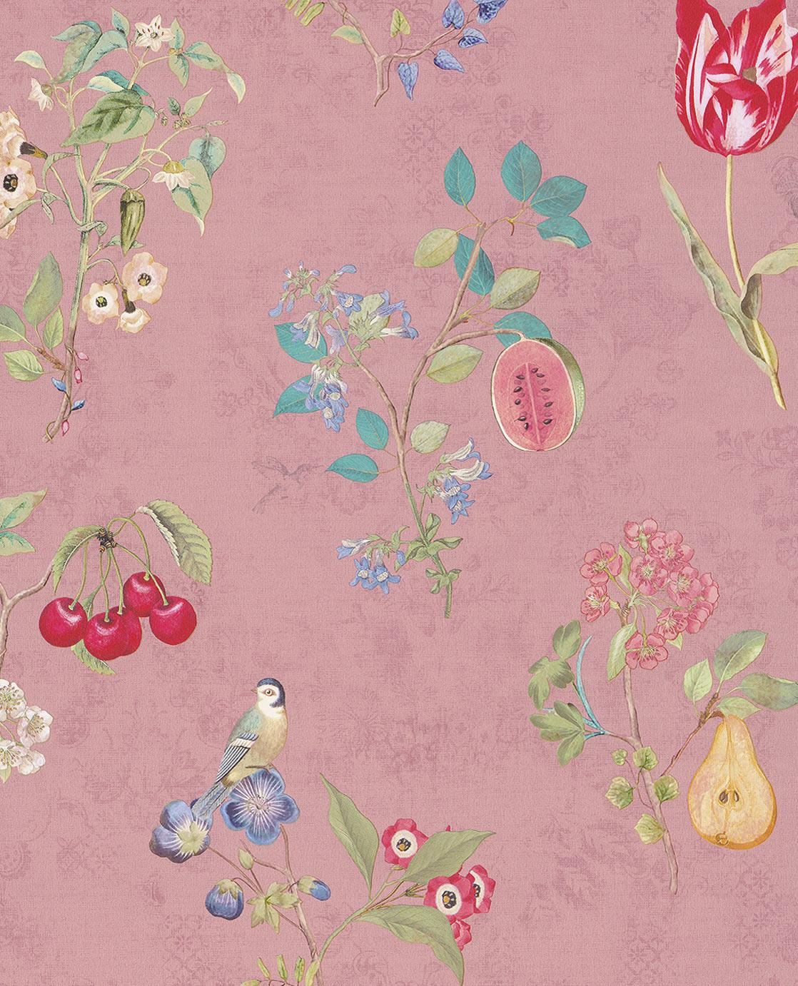 Pip Studio No 2, 10 x 0.52 wallpaper, Multi Colour, Pink
