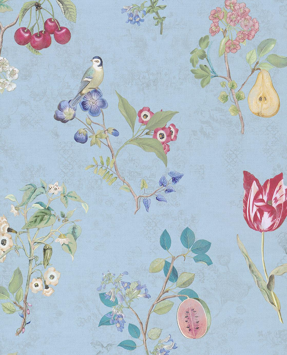 Pip Studio No 2 Wallpaper, Blue, Multi Colour, 0.52 x 10