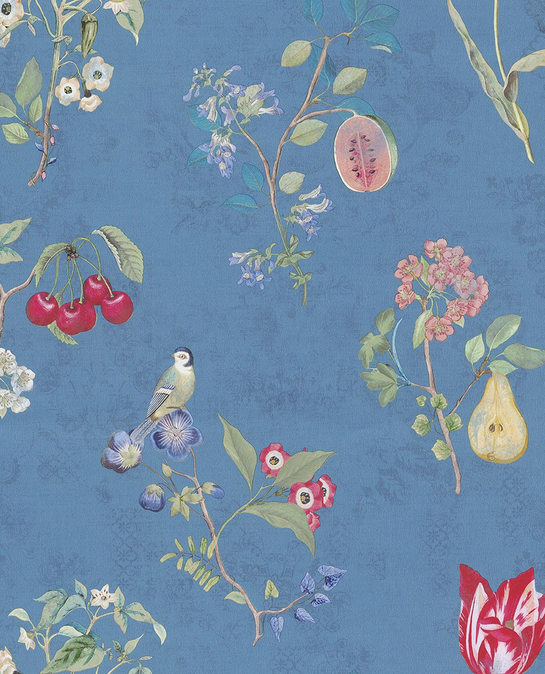 Pip Studio No 2 Wall Paper, Blue, Multi Colour, 0.52 x 10