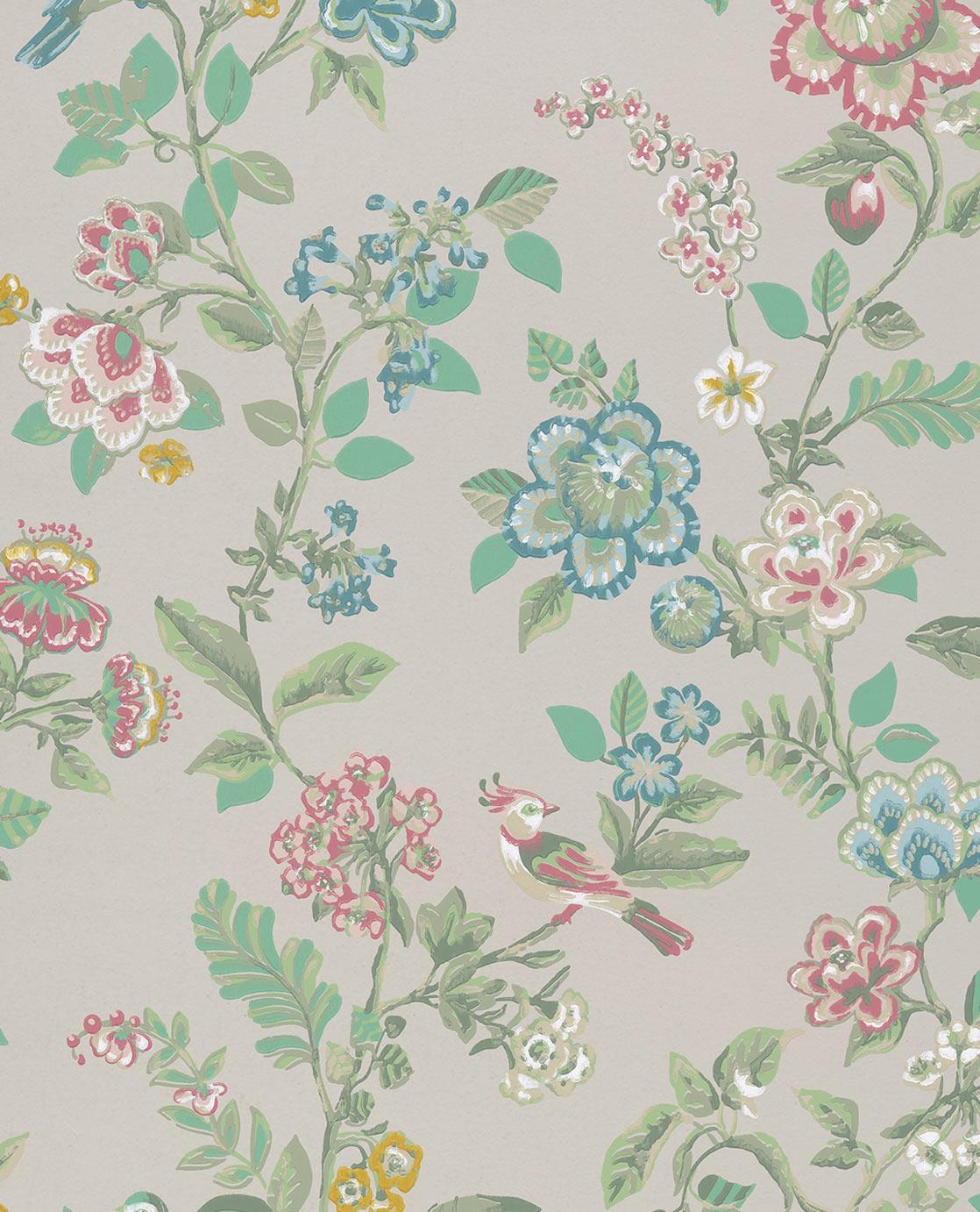 The wallpaper is Pip Studio No. 6, Beige , Multi Color, 10 x 0,52