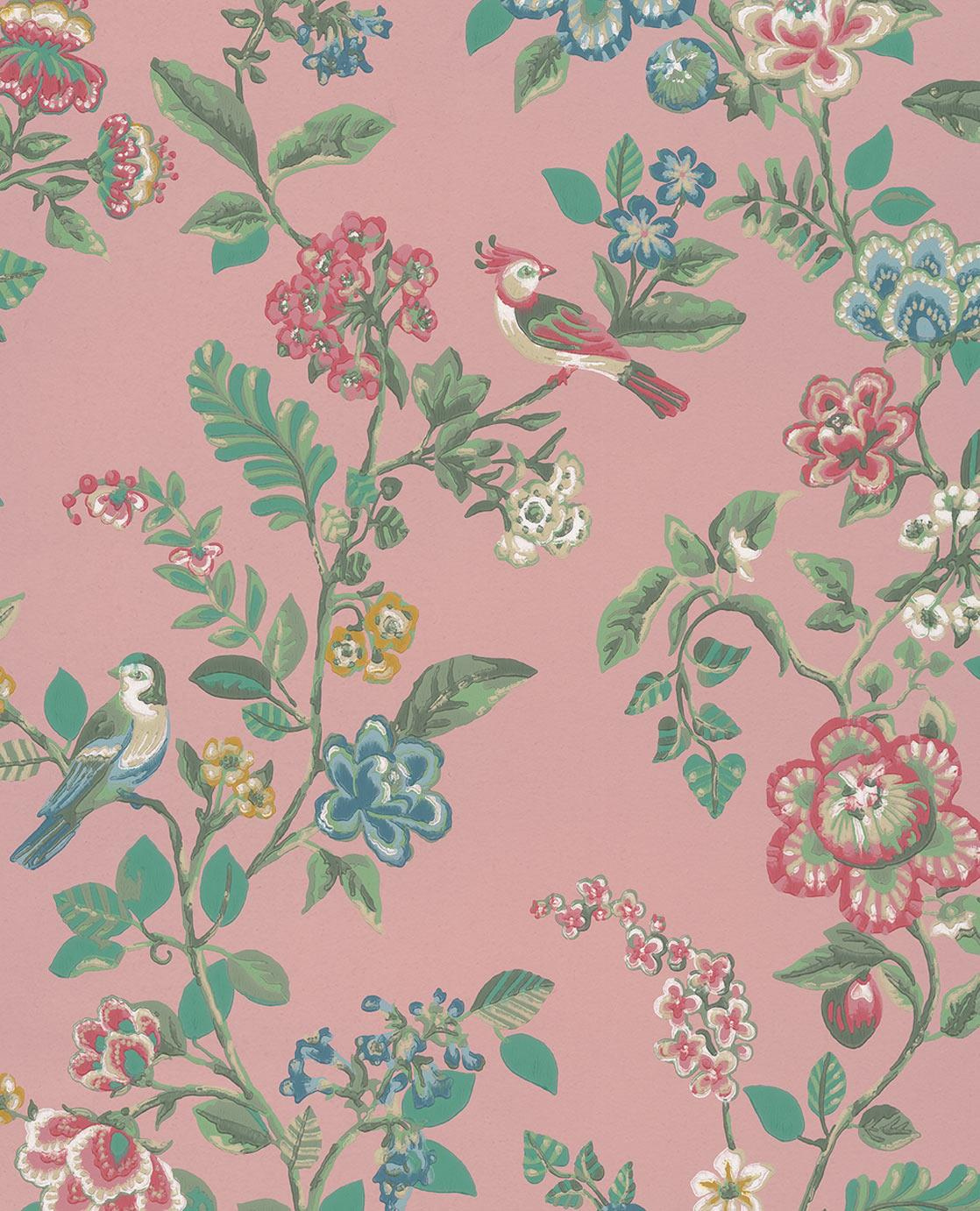 Pip Studio No 6 Wallpaper, Pink, Multi Colour, 0.52 x 10