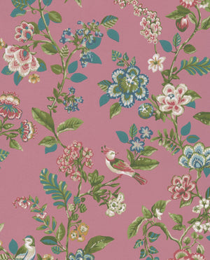 Pip Studio No 6 Wallpaper, Pink, Multi Color, 0,52 x 10