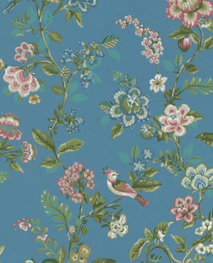 Pip Studio No 6 Wallpaper, Blue, Multi Color, 0,52 x 10