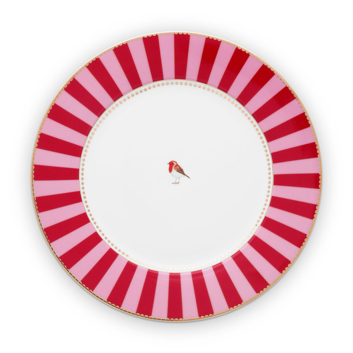 Love Bird Plate 26,5 Cm, ​​Red / Pink