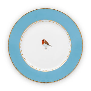 17 inches, blue plate love Bird