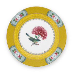 Blushing Birds Plate 17 Cm, Yellow