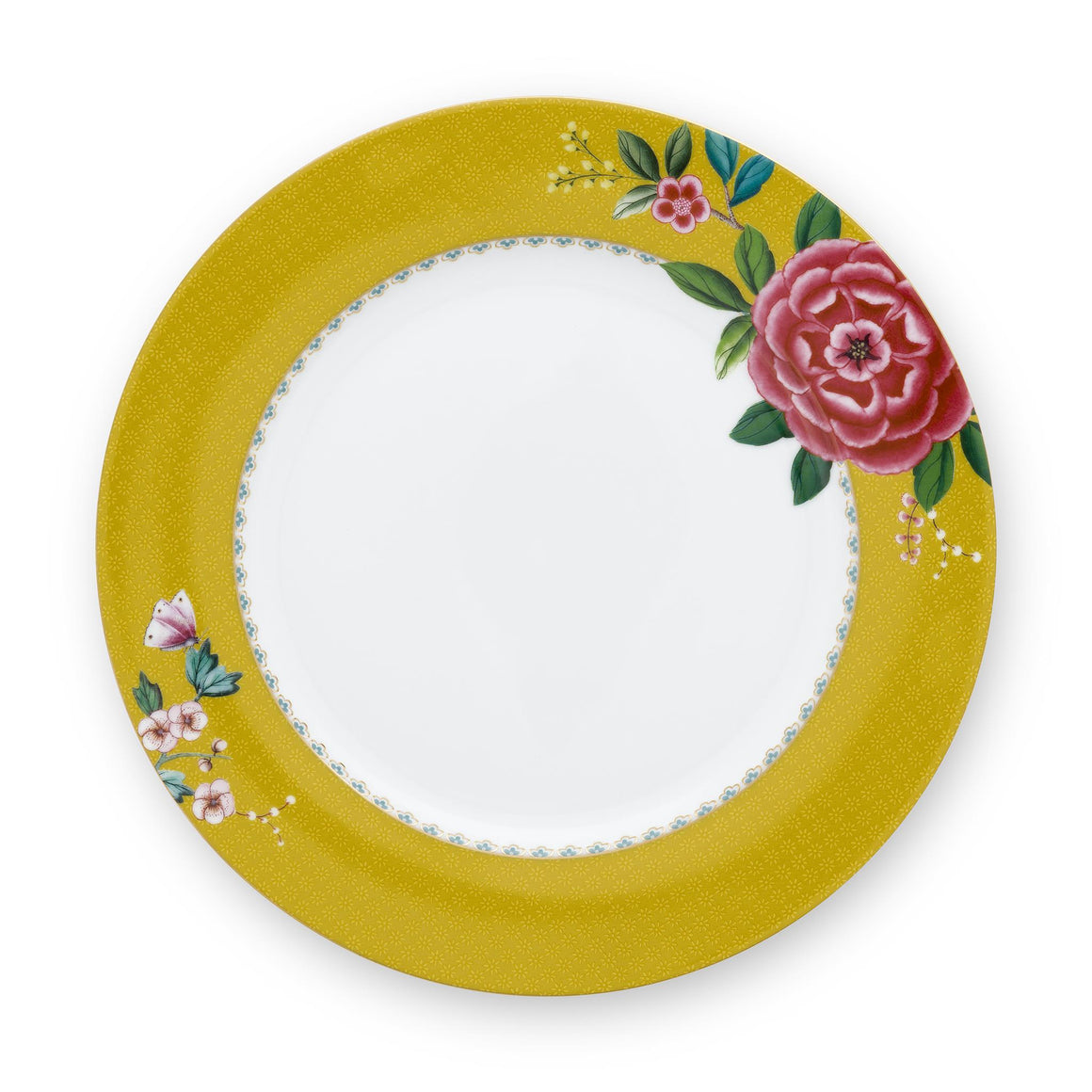Blushing Birds Dinner Plate 26.5 Cm, Yellow