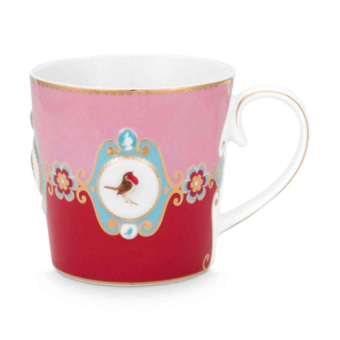 Love Bird Mug, Red / Pink