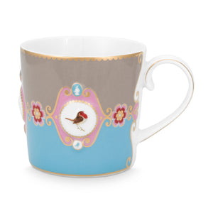Love Bird Little Mug, Blue / Khaki