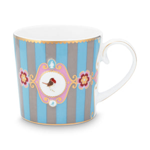 Love Bird Small Mug, Blue / Khaki