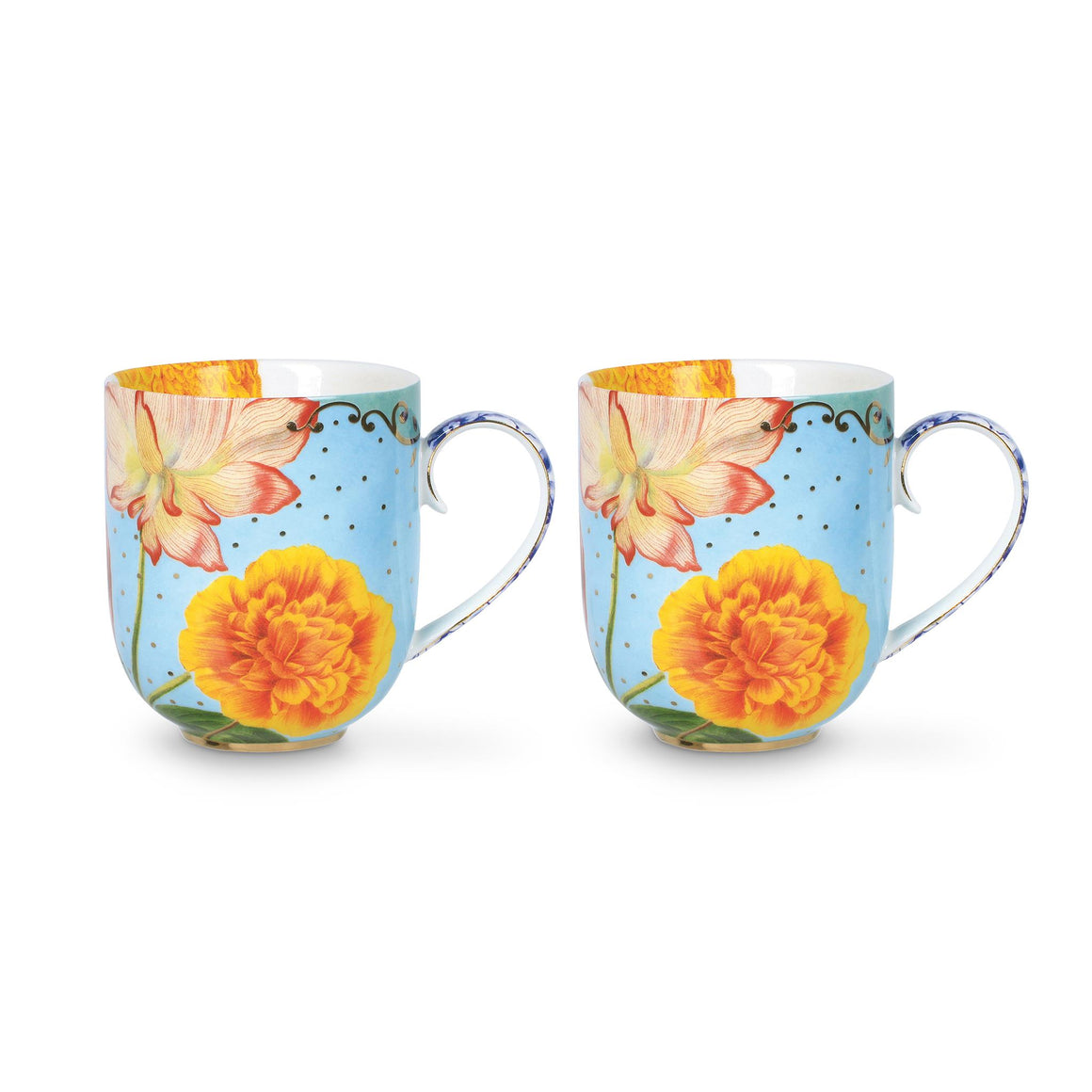 Royal Double Mug Set, Multi-Rhine