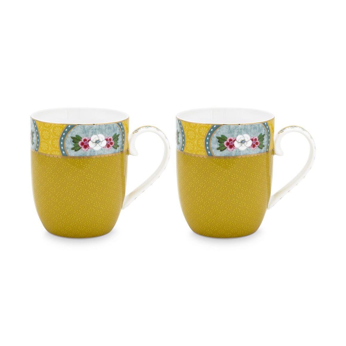 Blushing Birds Double Small Mug Set 145 Ml., Yellow