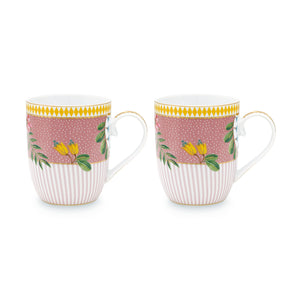 La Majorelle Double Small Mug Set 145 Ml., Pink