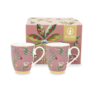 La Majorelle Double Big Mug Set 350 Ml., Pink