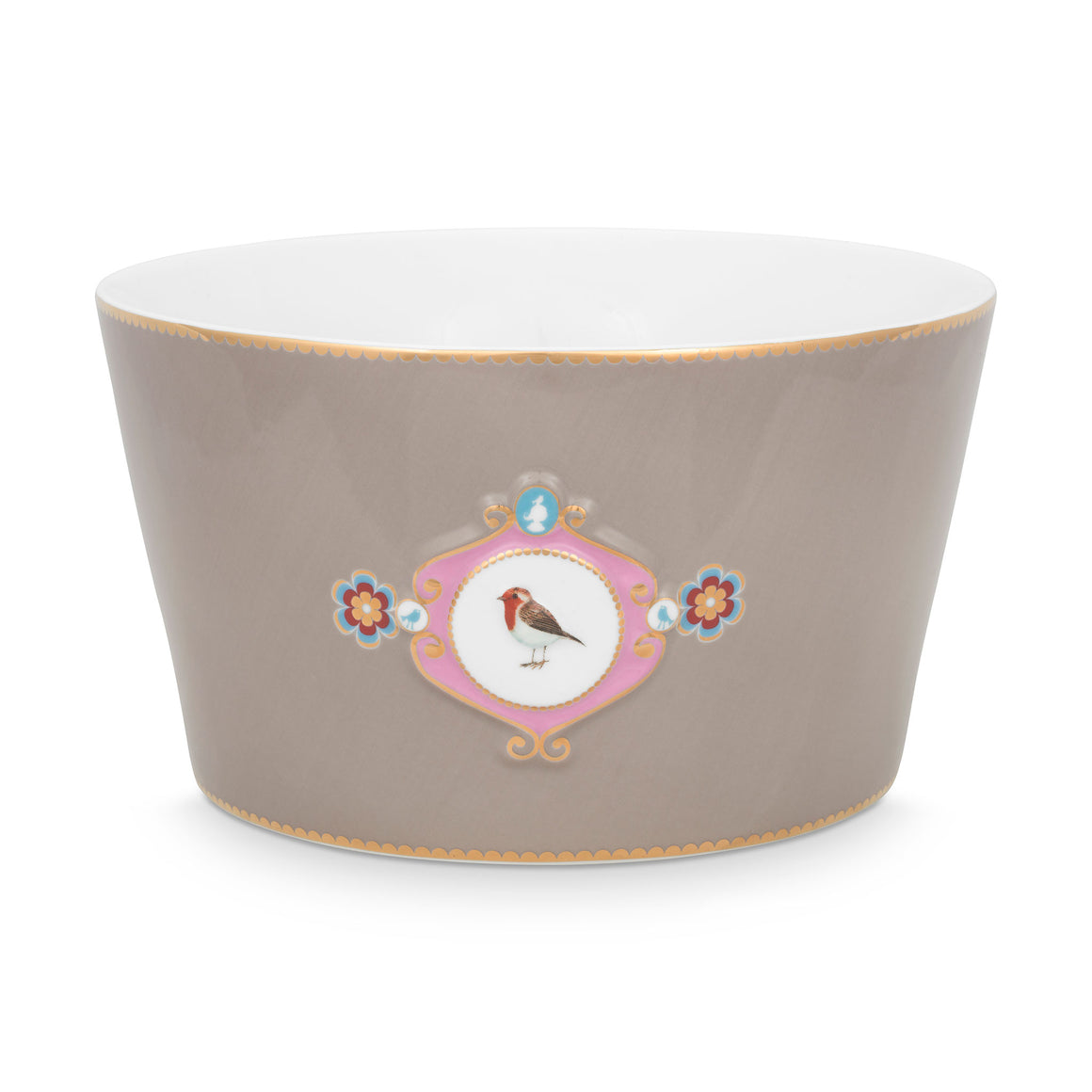 Love Bird Bowl 20 Cm, Haki