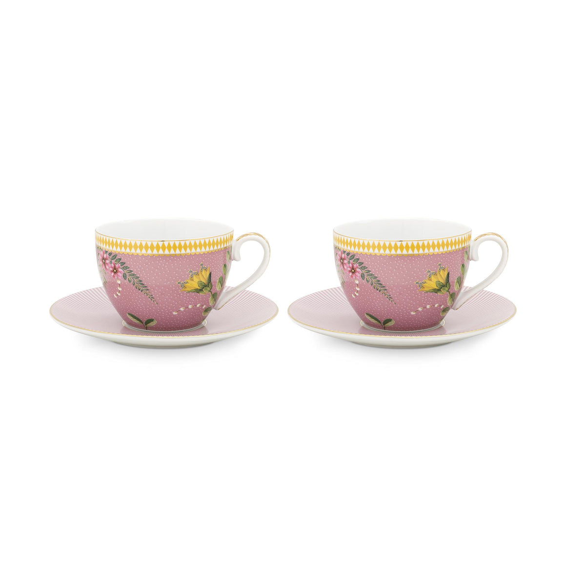 La Majorelle Double Teacup Set 280 Ml., Pink