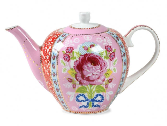 Pip Flower Patterned Pink Teapot
