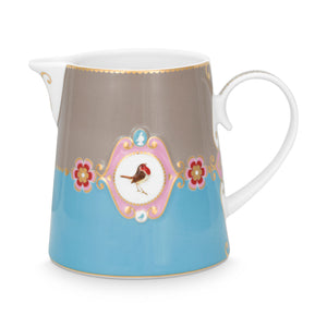Love Bird Pitcher, Blue / Khaki