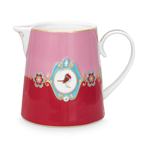 Love Bird Pitcher, Red / Pink