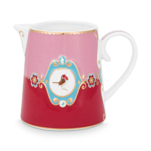 Love bird Creamer, Pink / Red