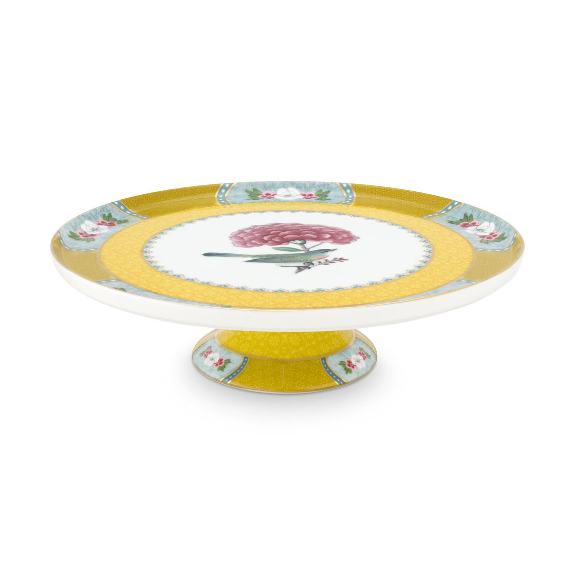 Blushing Birds Mini Cake Stand, Yellow, 21 cm