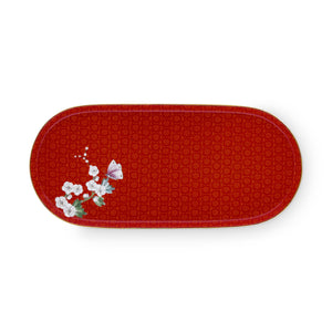 Birds oval platter 25 cm Blushing Red