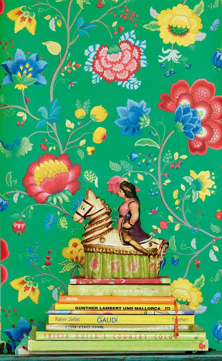 Pip Studio No. 30 Wallpaper, Green, Multi Colour, 0.52 x 10
