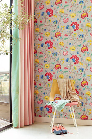 Pip Studio No 30 Wallpaper, Khaki, Multi Color, 0,52 x 10