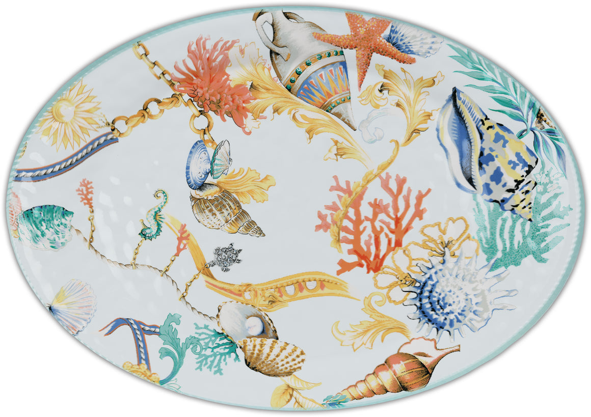 Baci Milano St. Tropez Oval Large Serving Plate