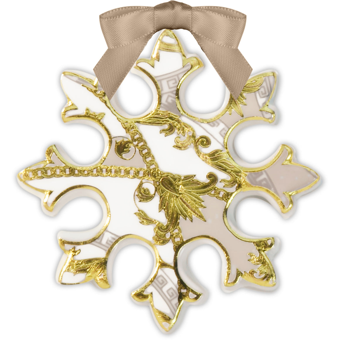 Snowflake Christmas Ornament, Powder,