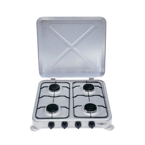Totai 4 Burner Enamel Hotplate With Lid