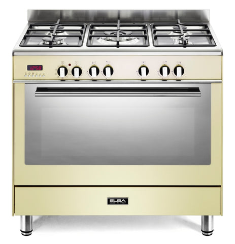 Elba 90cm Cream Fusion Freestanding Cooker