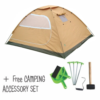4 Man Canvas Tent + Free Camping Accessory kit