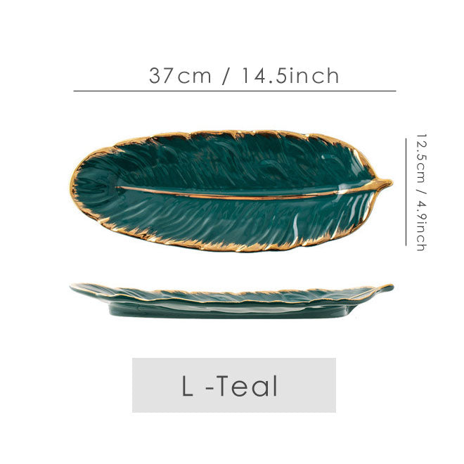 Ceramic Feather Plate