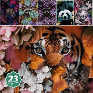 Canvas Print - Flower Animals | A Deal Each Week.