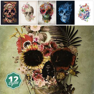 Canvas Print - Flower Skulls | A Deal Each Week.