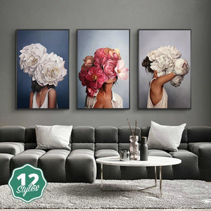 Canvas Print - Flowers & Feathers | A Deal Each Week