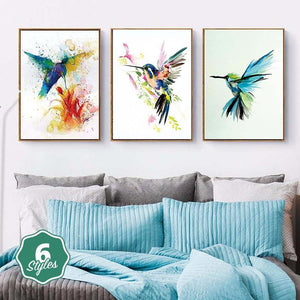 Canvas Print - Watercolor Hummingbirds | A Deal Each Week.