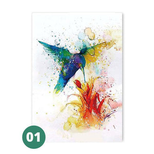 Open image in slideshow, Canvas Print - Watercolor Hummingbirds | A Deal Each Week